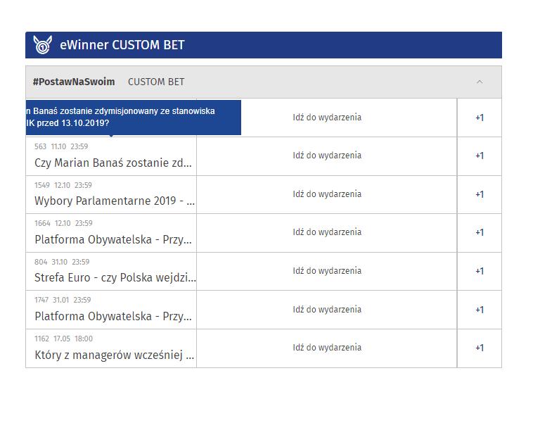 Custom Bet- eWinner bonus