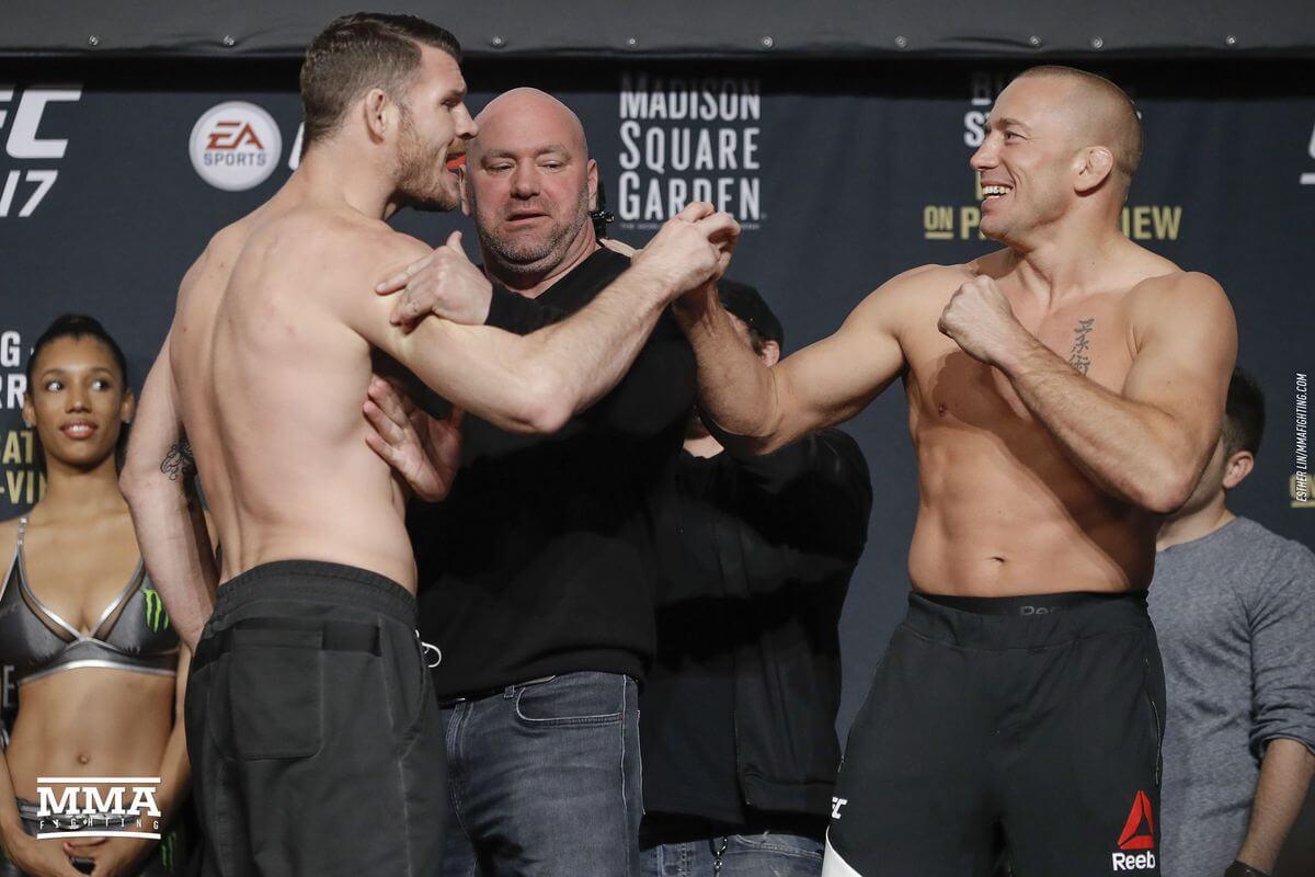 Michael Bisping i Georges St-Pierre przed walką na UFC 217