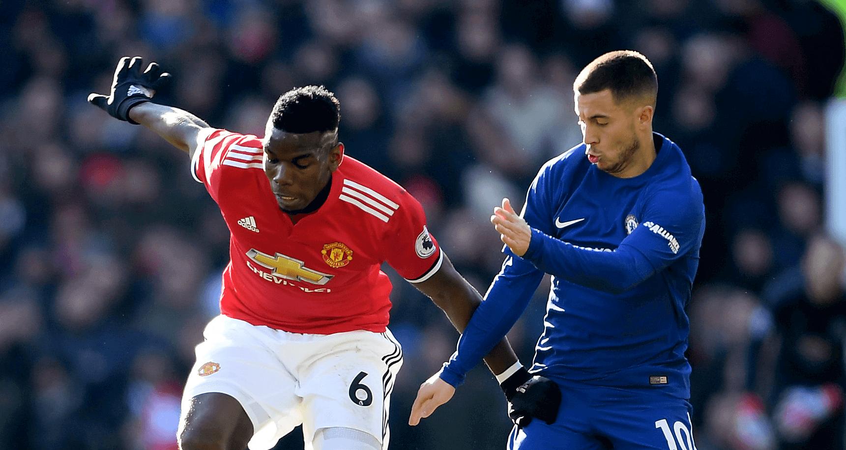 Pogba i Hazard - Chelsea vs United