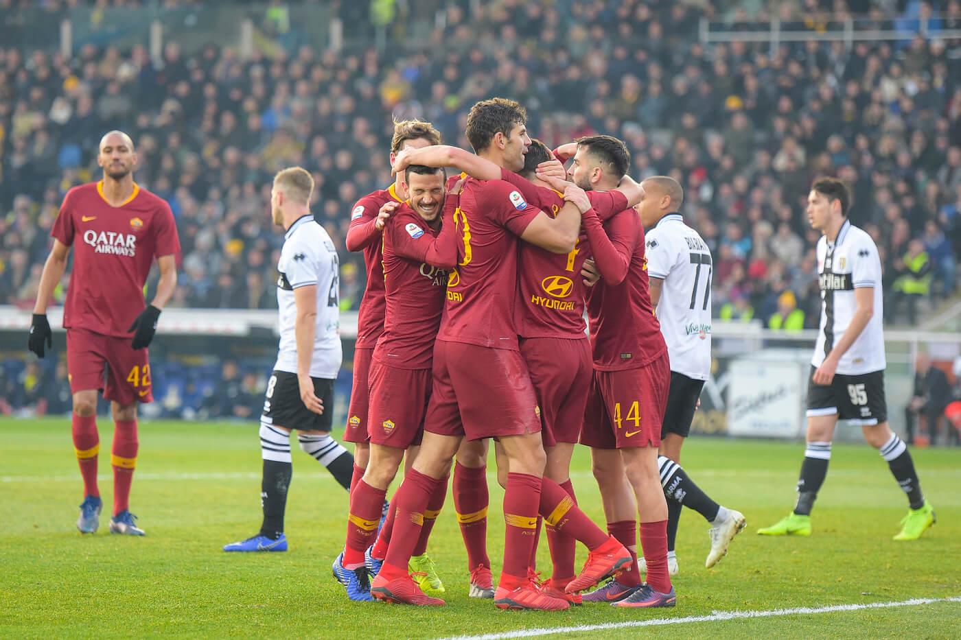Roma ciesząca się z gola