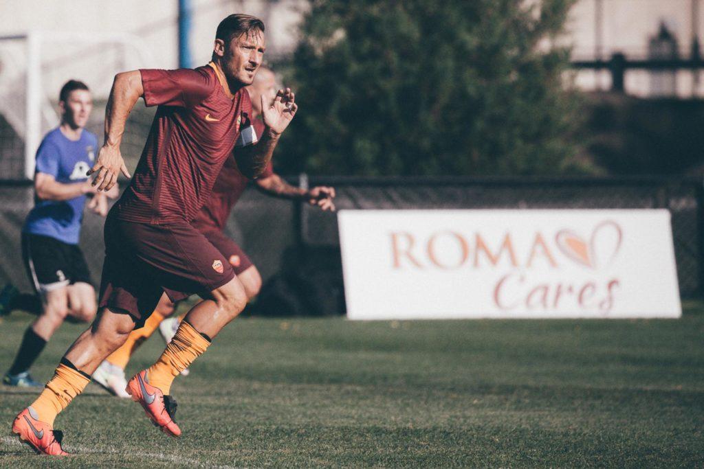 Francesco Totti w treningu