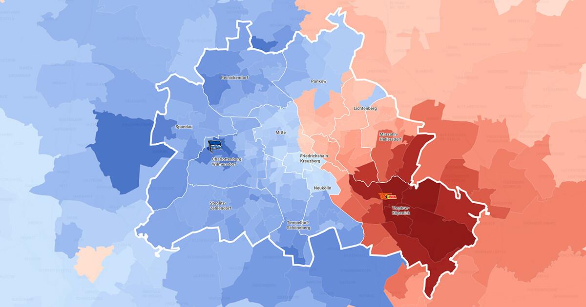Union Berlin vs Hertha BSC maps