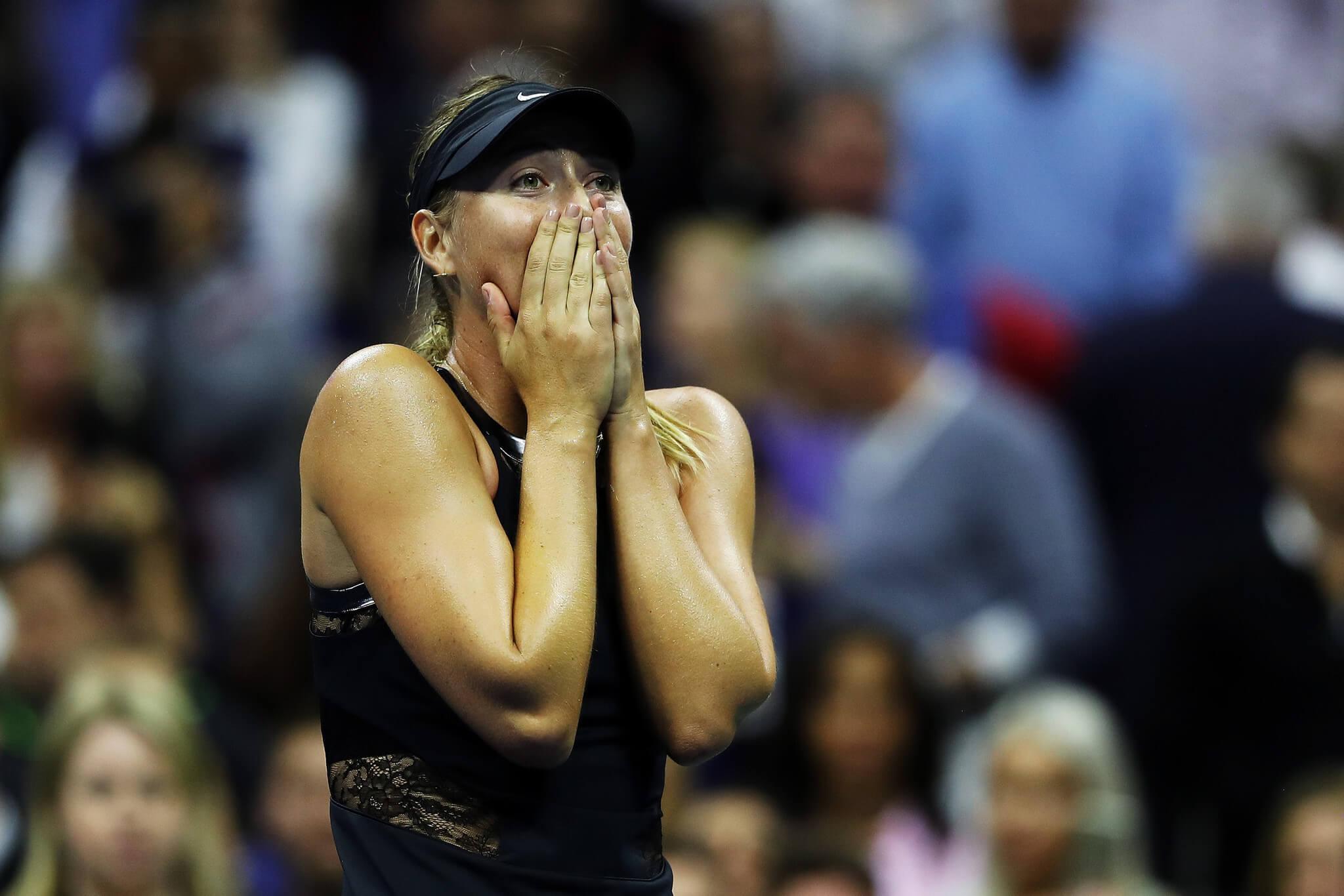 Maria Szarapowa po wygranej z Simoną Halep na US Open