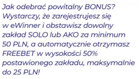 Jak otrzymać darmowy bonus w eWinner