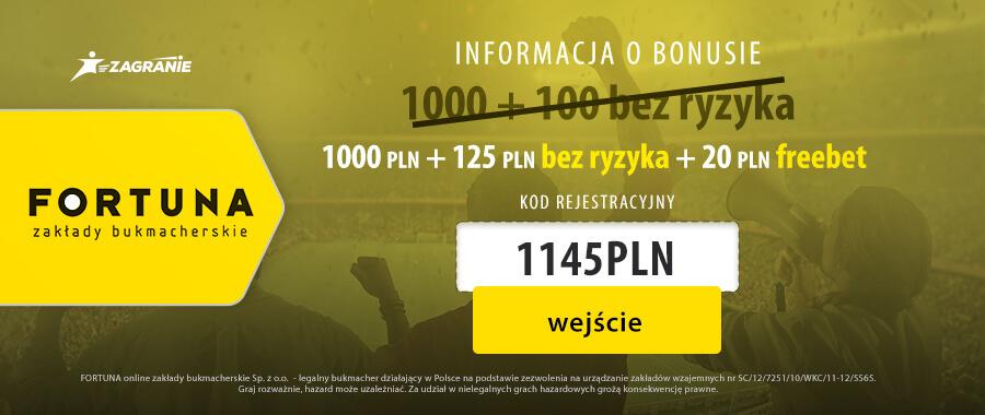 Baner Fortuna na 1145PLN