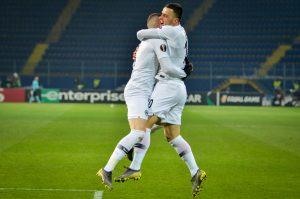 Piłkarze Eintrachtu sie cieszą