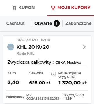 Kupon na długoterminówkę KHL