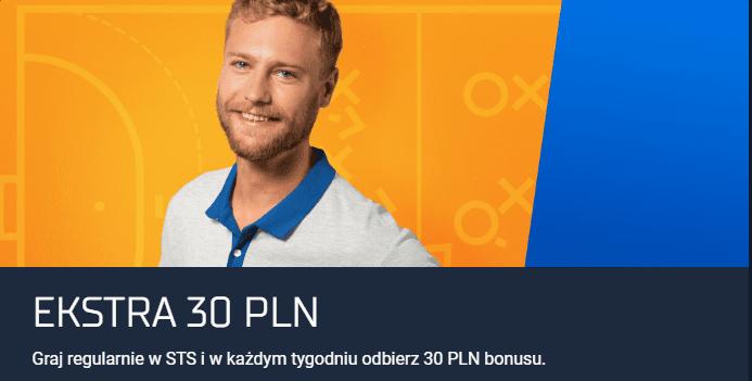 STS bonus dla starych graczy  - ekstra 30 pln