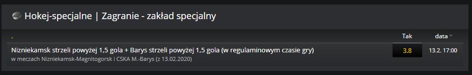 Zakład specjalny na KHL