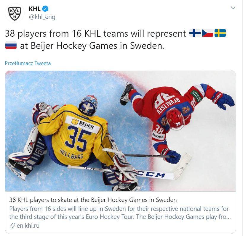 Informacje o hokeistach KHL w reprezentacjach