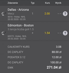 NHL typy na noc 20.02.2020