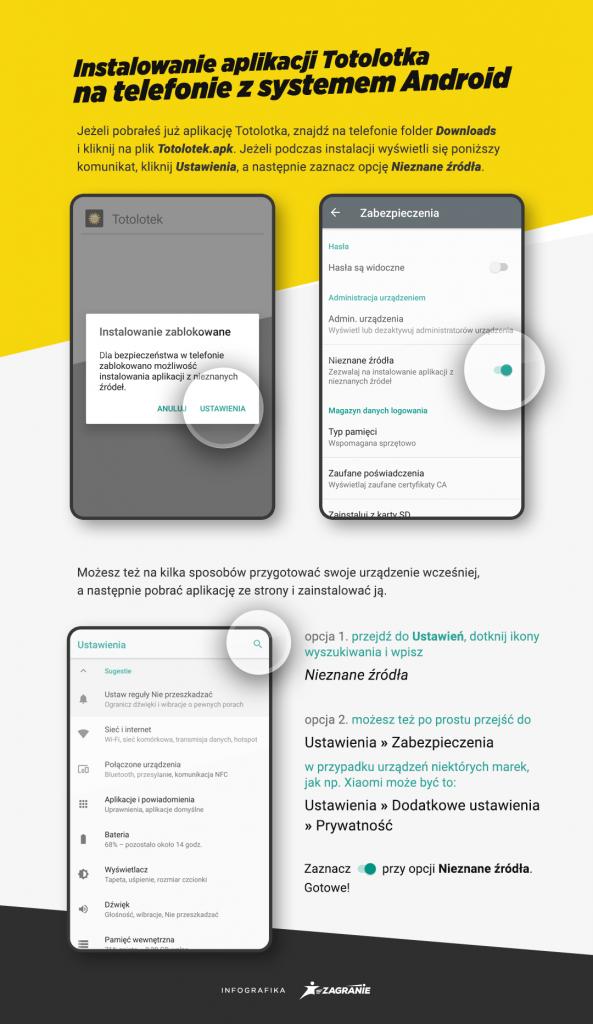 Instrukcja instalacji aplikacji Totolotka