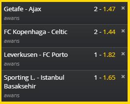 typy Liga Europy kursy na awans