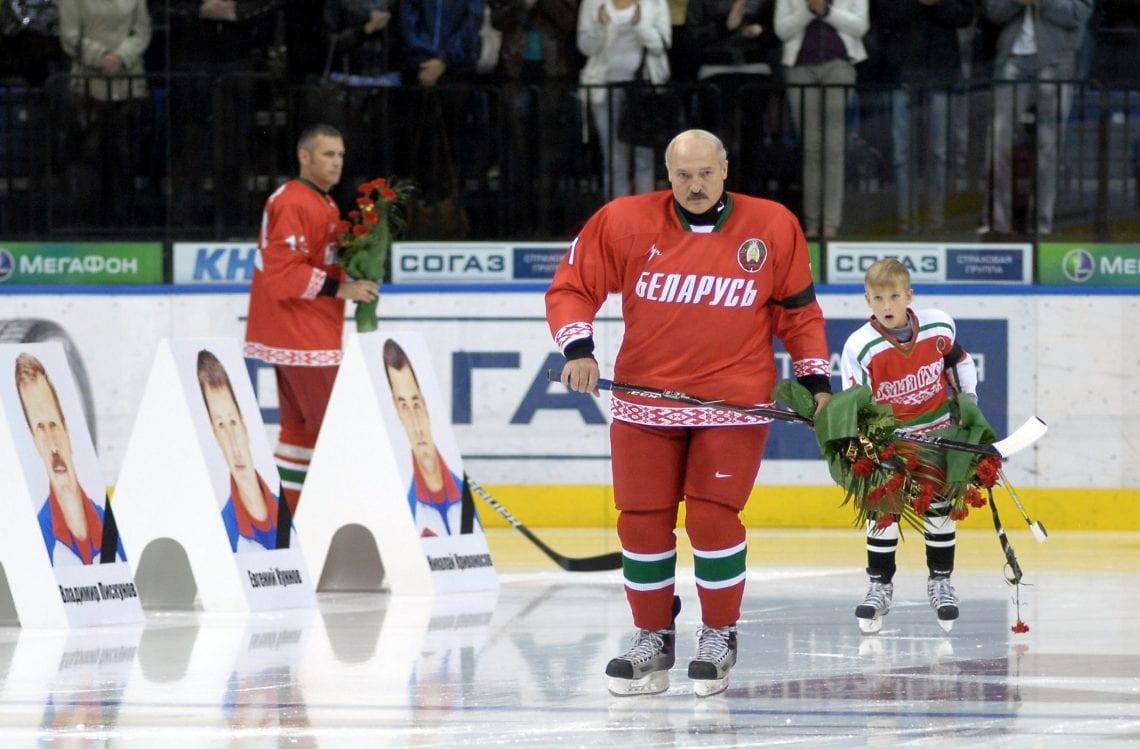 Łukaszenko hokej na Białorusi