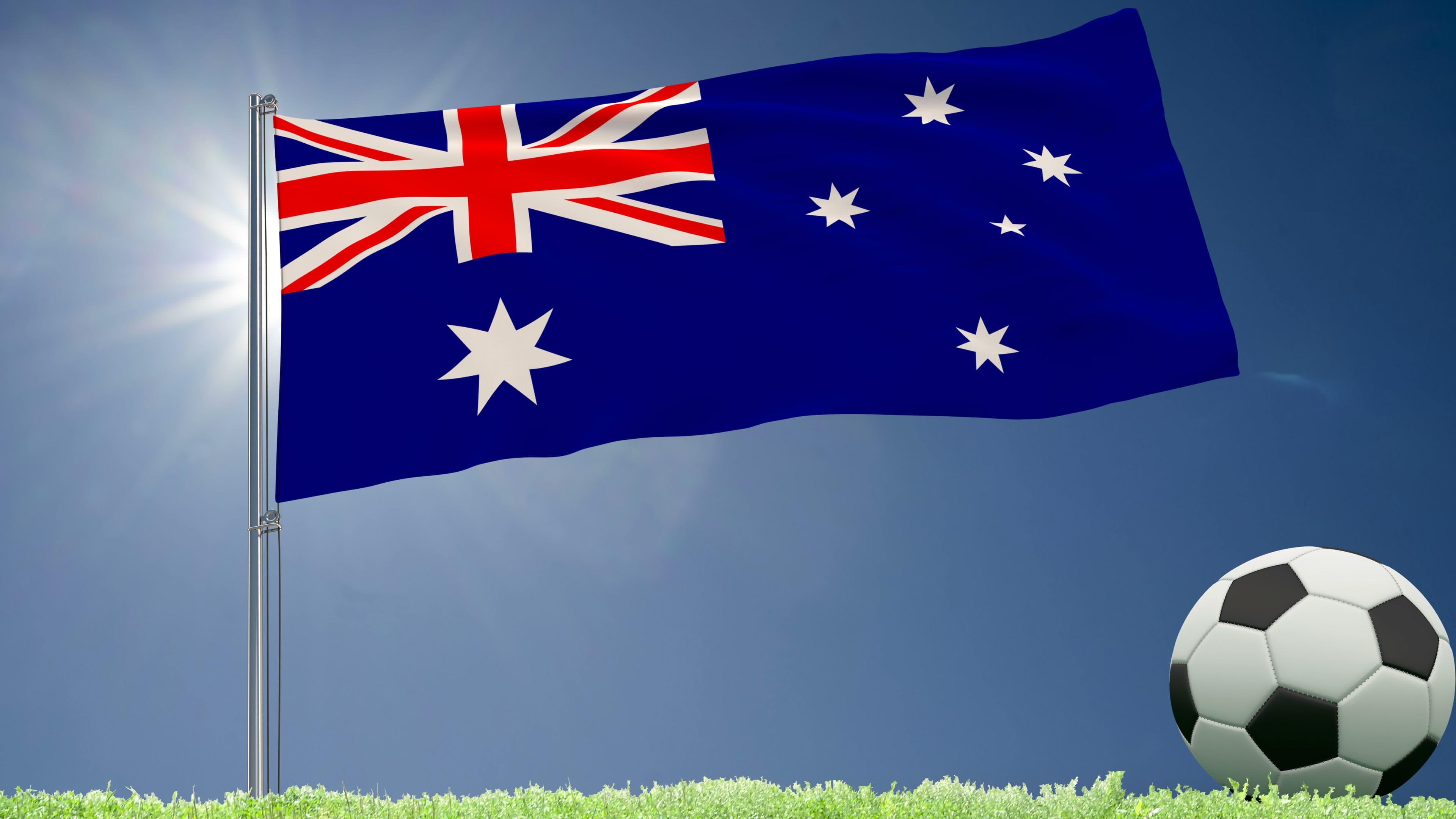flaga i piłka