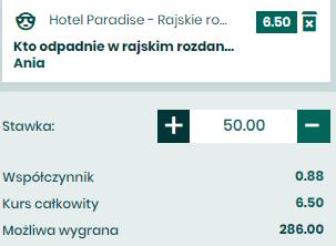 Hotel Paradise - pojedynek typerów