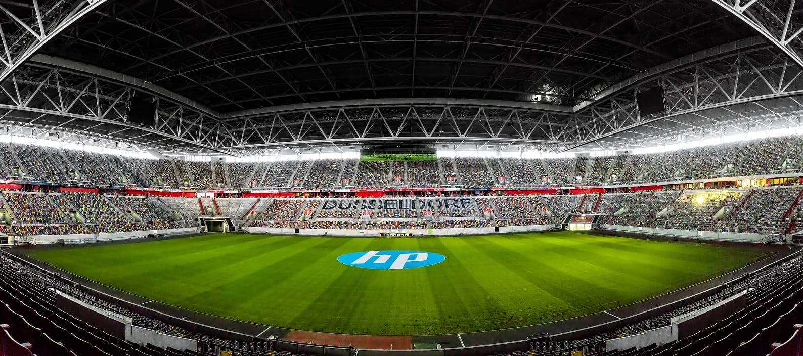 Pusty stadion Fortuny Düsseldorf