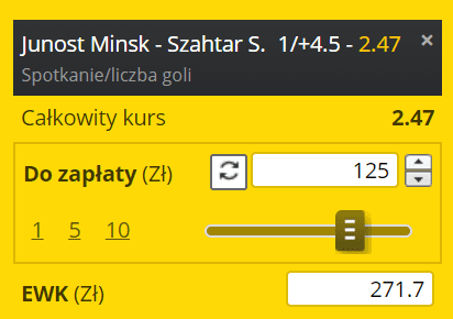 Kupon na Białoruś hokej Fortuna 28.03.