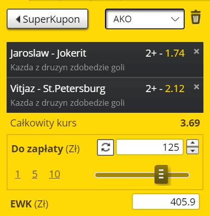 KHL na 05.03 Fortuna