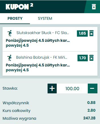 Kupon na Białoruś BETFAN 22.03.