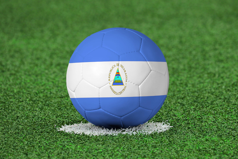 Piłka z flagą Nikaragui