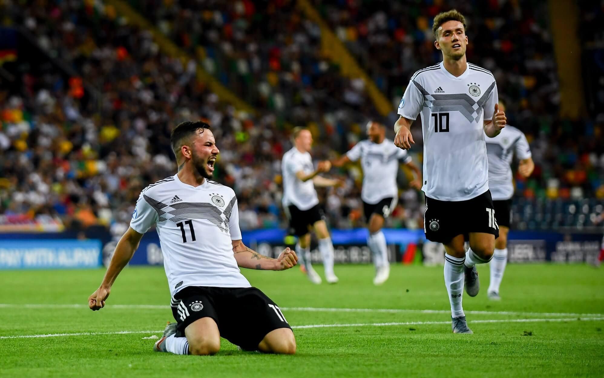 Niemcy U21 w meczu z Danią