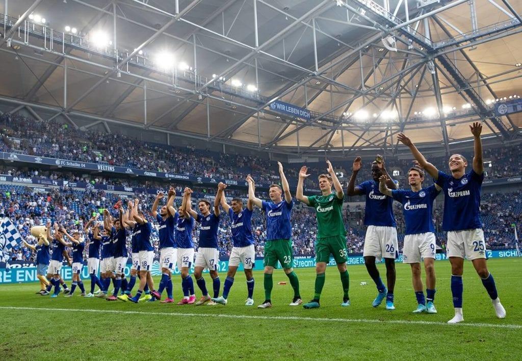 Schalke w meczu z Herthą