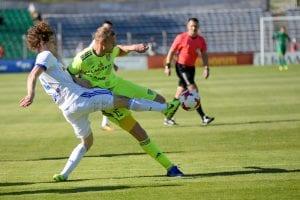 Piłkarze Szachtara Soligorsk vs Dynama Mińsk, Białoruś