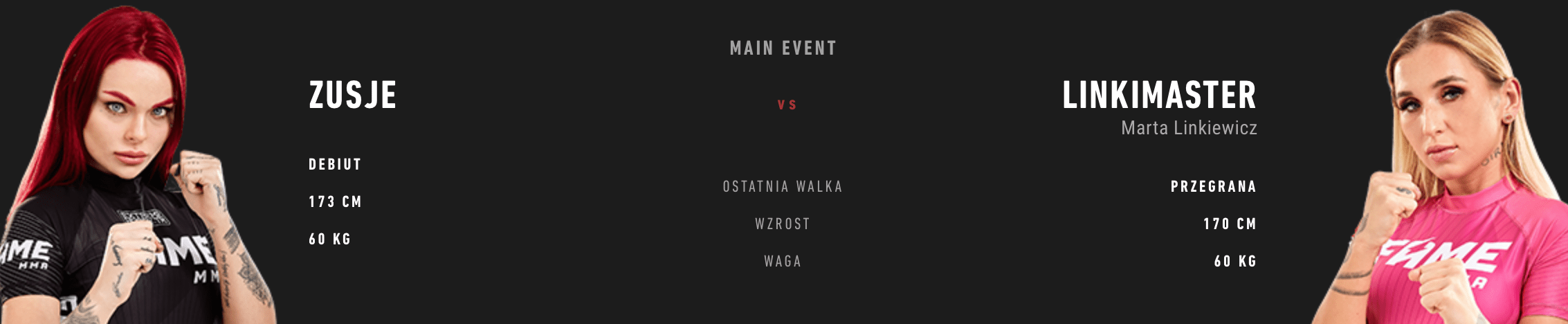 Grafika FAME MMA 6 - Zusje vs Alek