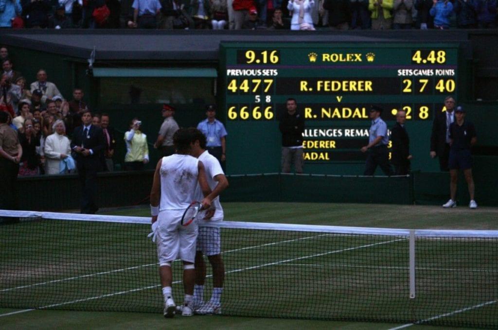 Federer i Nadal - Wimbledon 2008