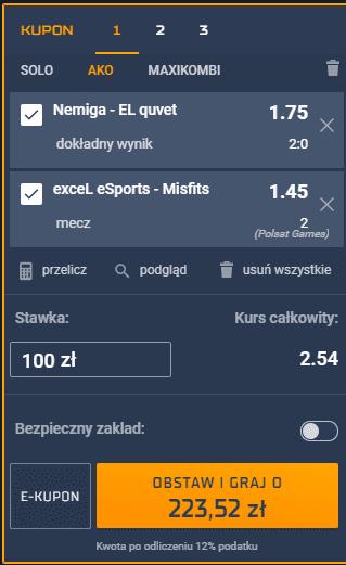 kupon 06.03 esport
