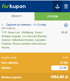 kupon - taśma