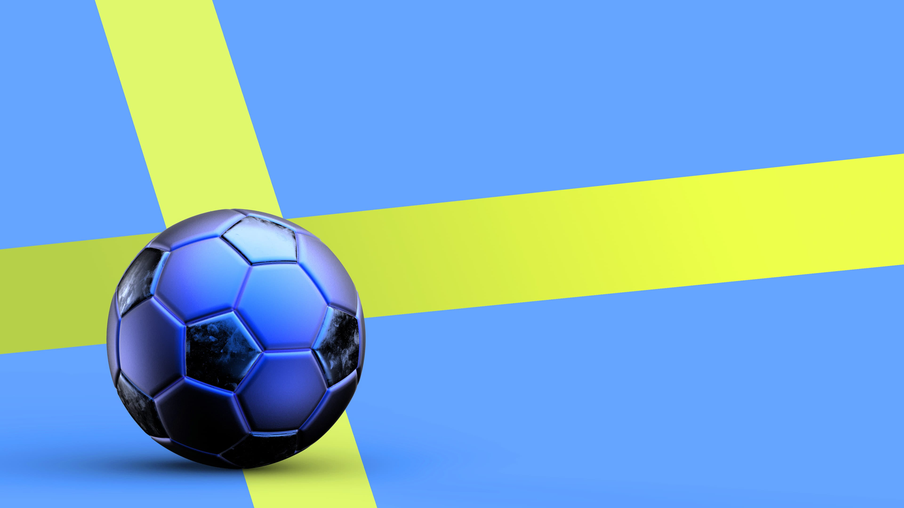 Piłka na tle flagi Szwecji