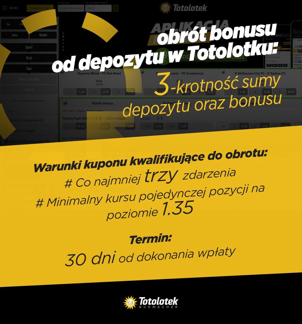 Totolotek bonus - obrót