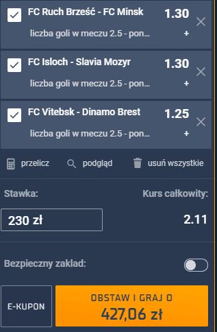 Kupon triple - Białoruś