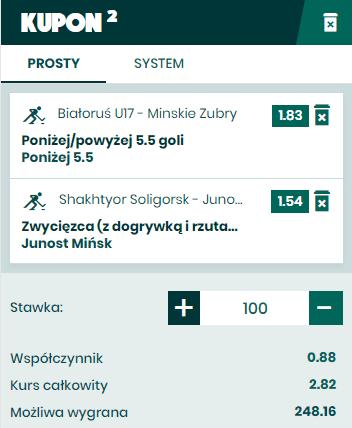 BETFAN kupon na hokej 01.04.