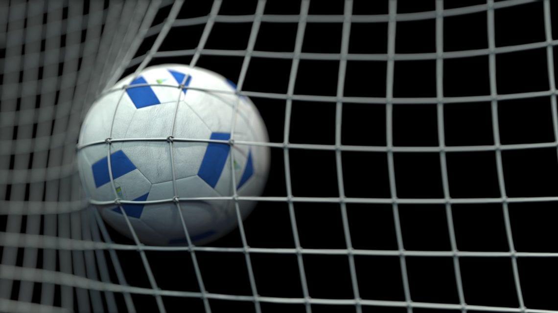 Piłka w siatce w barwach Nikaragui.