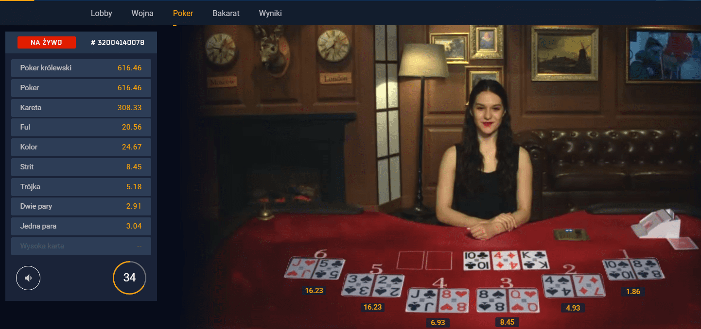 Poker w kasynie STS - Betgames