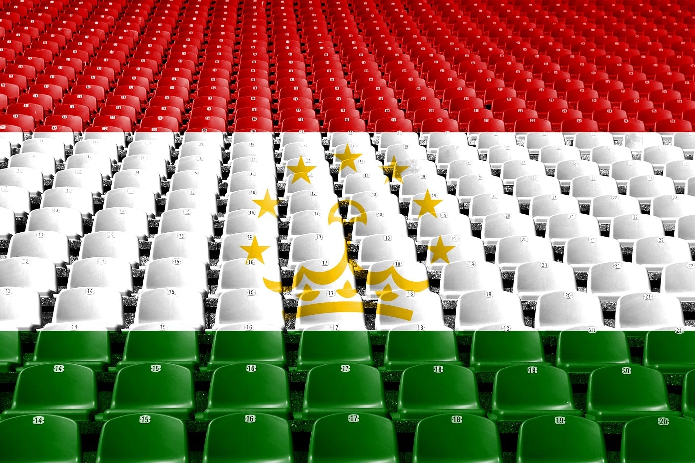 Tadżykistan flaga stadion