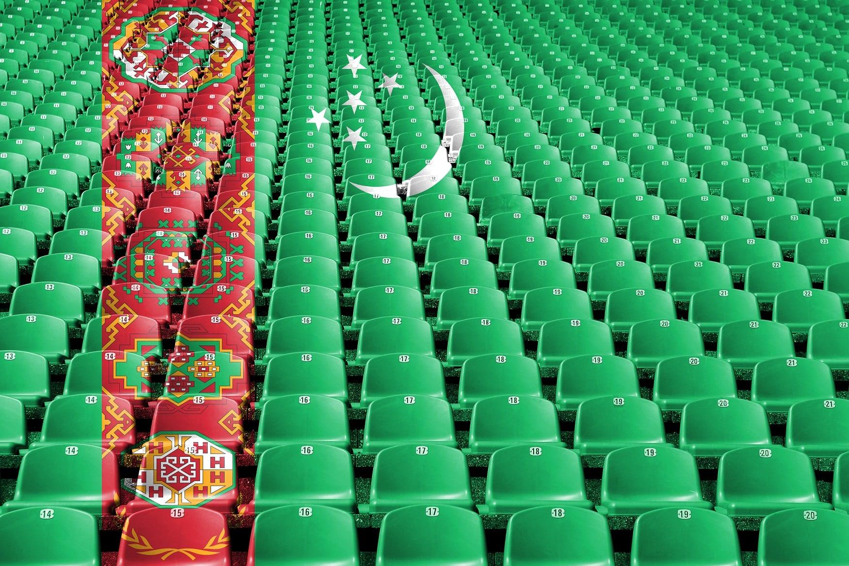 Siedzenia flaga Turkmenistan