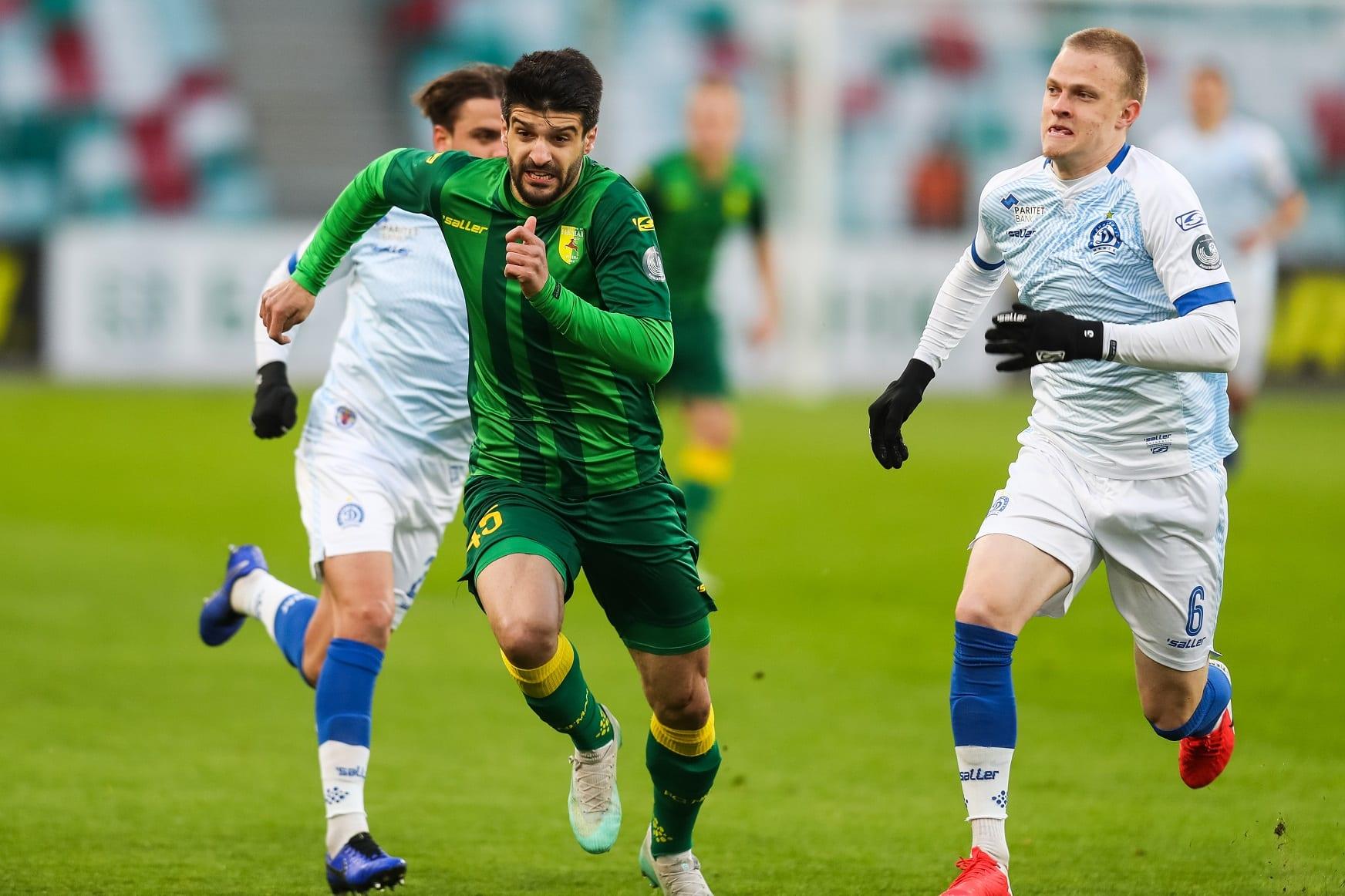 Piłkarze Niomana Grodno i Dynama Mińsk