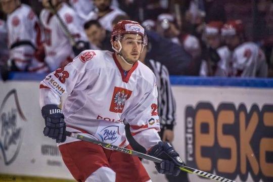 Oskar Jaśkiewicz podczas meczu kadry