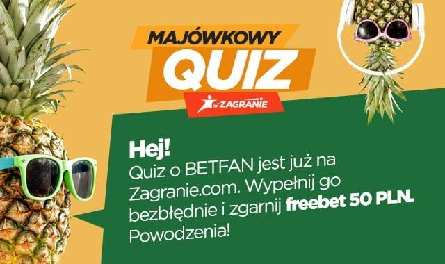 Freebet do BETFAN w quizie