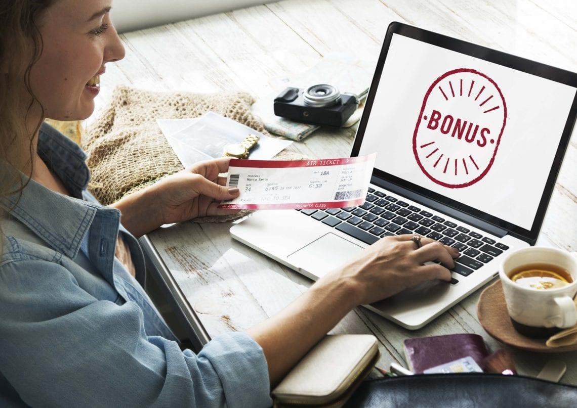 Bonusy bukmacherskie - laptop