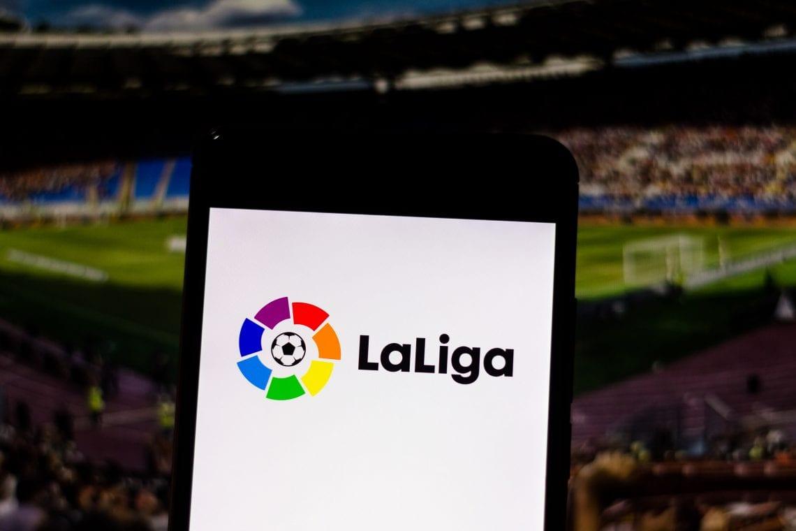 Ekran telefonu z logiem LaLiga