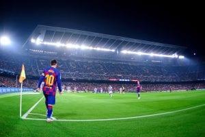 Rzut rożny Messi