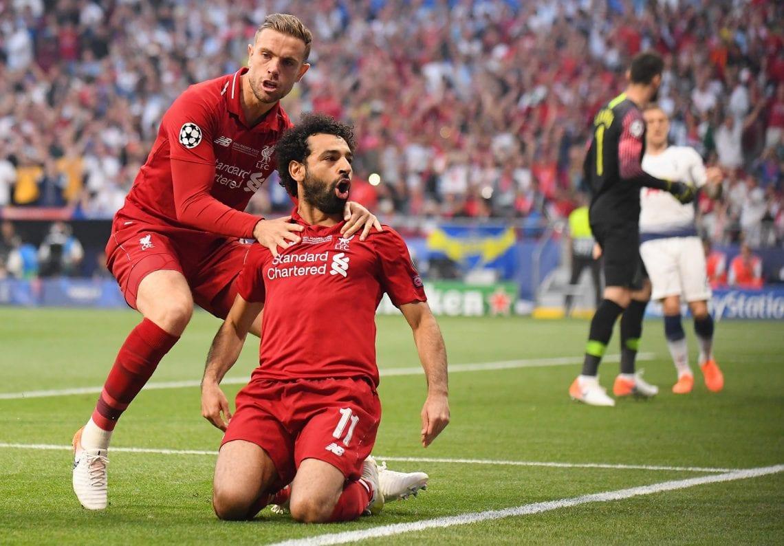 Liverpool Salah cieszynka po golu