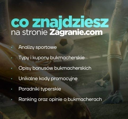 zakłady bukmacherskie i typy dnia na Zagranie.com