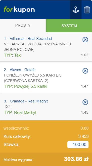 La Liga kupon na 13.07.