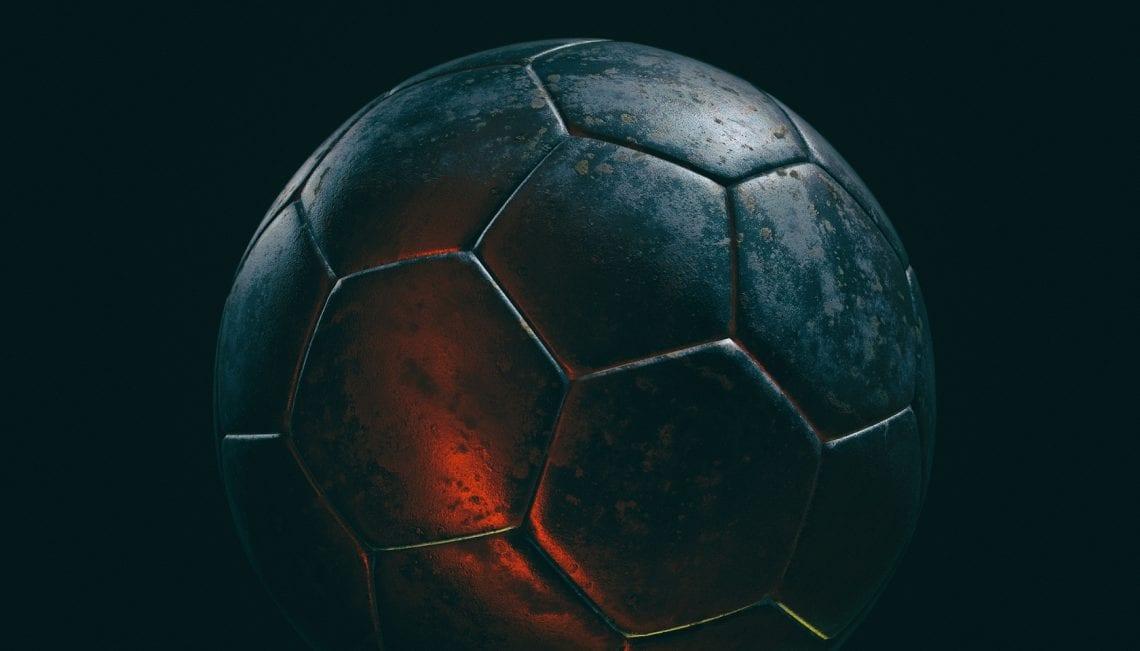 Czarna piłka nożna
